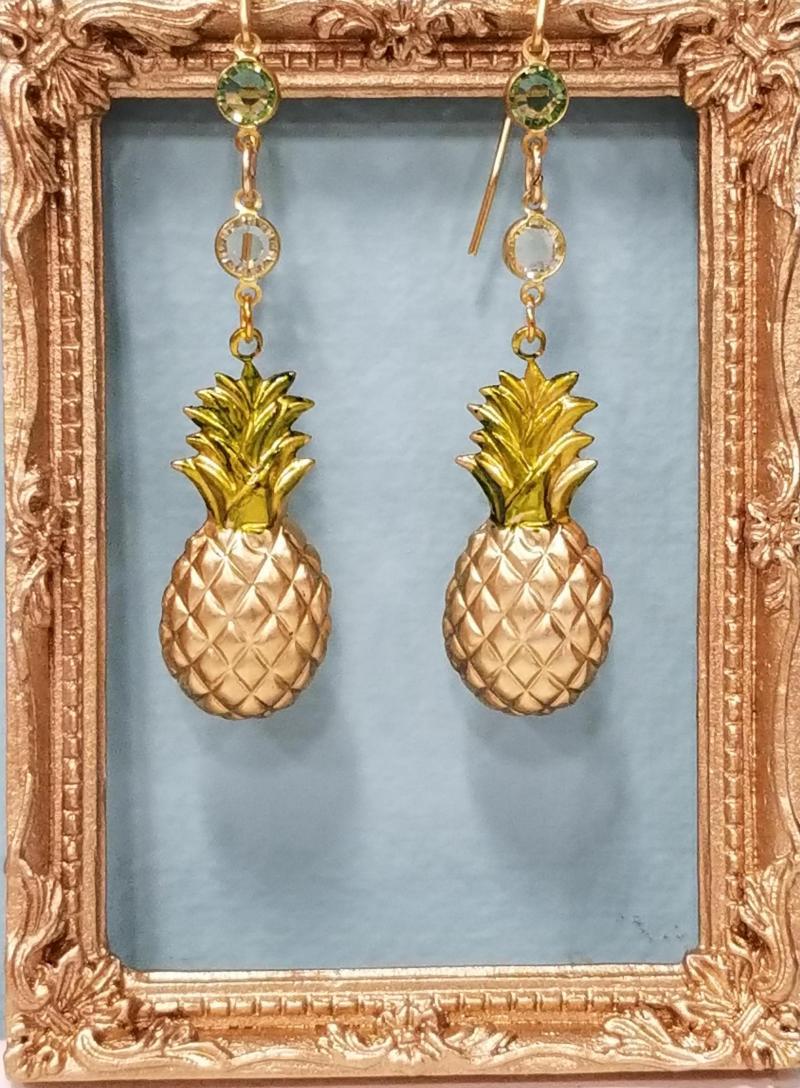 Pineapple Dangle Earrings