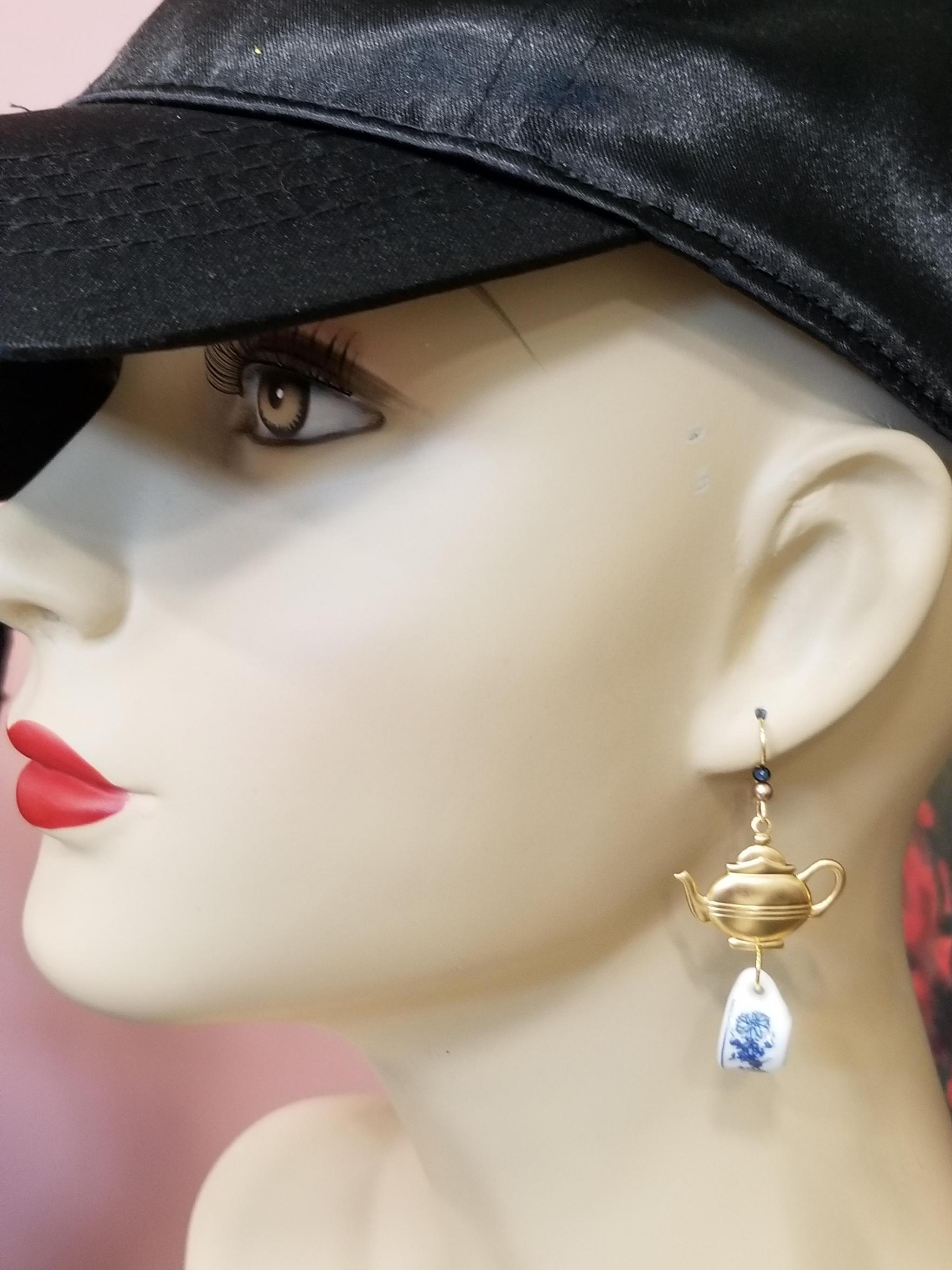 Starbucks Earrings 14K gold plated Earwires Orange Coffee Mug Earrings Coffee Earrings FREE Shipping