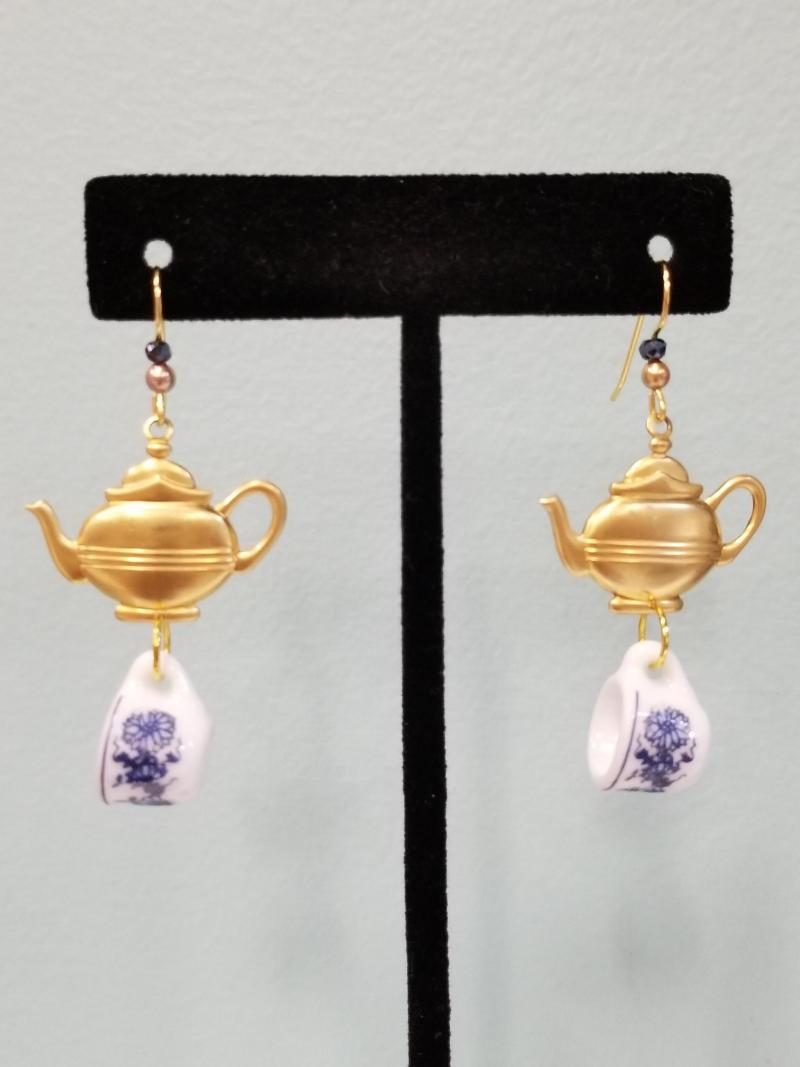 Tea Pot and Tea Cup Earrings