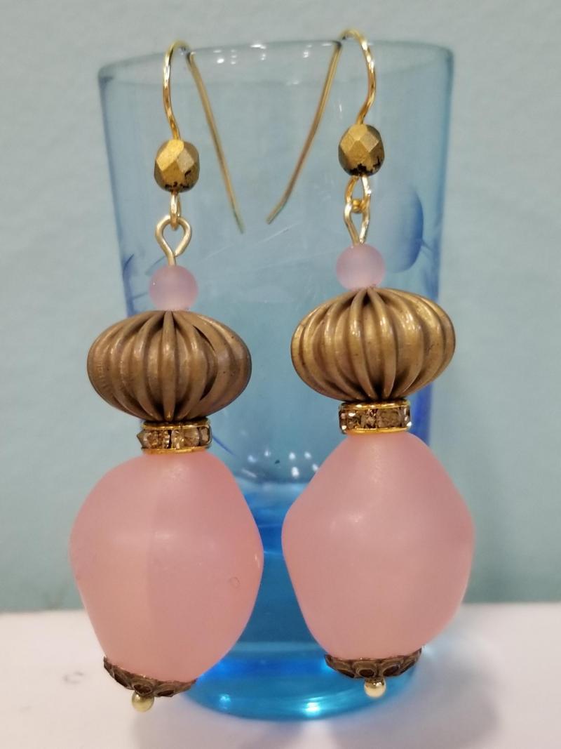 Bubble Gum Lantern Earrings