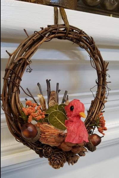 Thanksgiving Turkey Mini Wreath