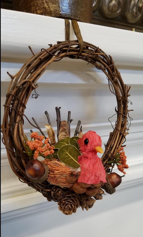 Thanksgiving Turkey Mini Wreath