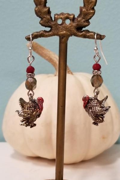 Thanksgiving Turkey Earrings CLASS 11.16.19