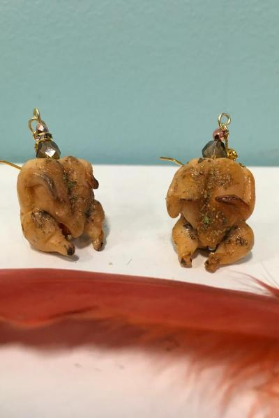 Stuffed Turkey Earrings