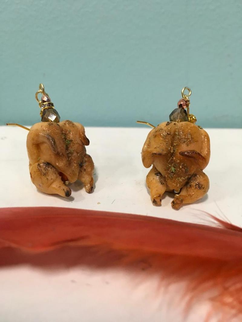 Stuffed Turkey Earrings