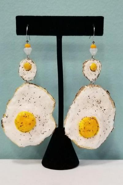 Sunny Side Up Egg Earrings