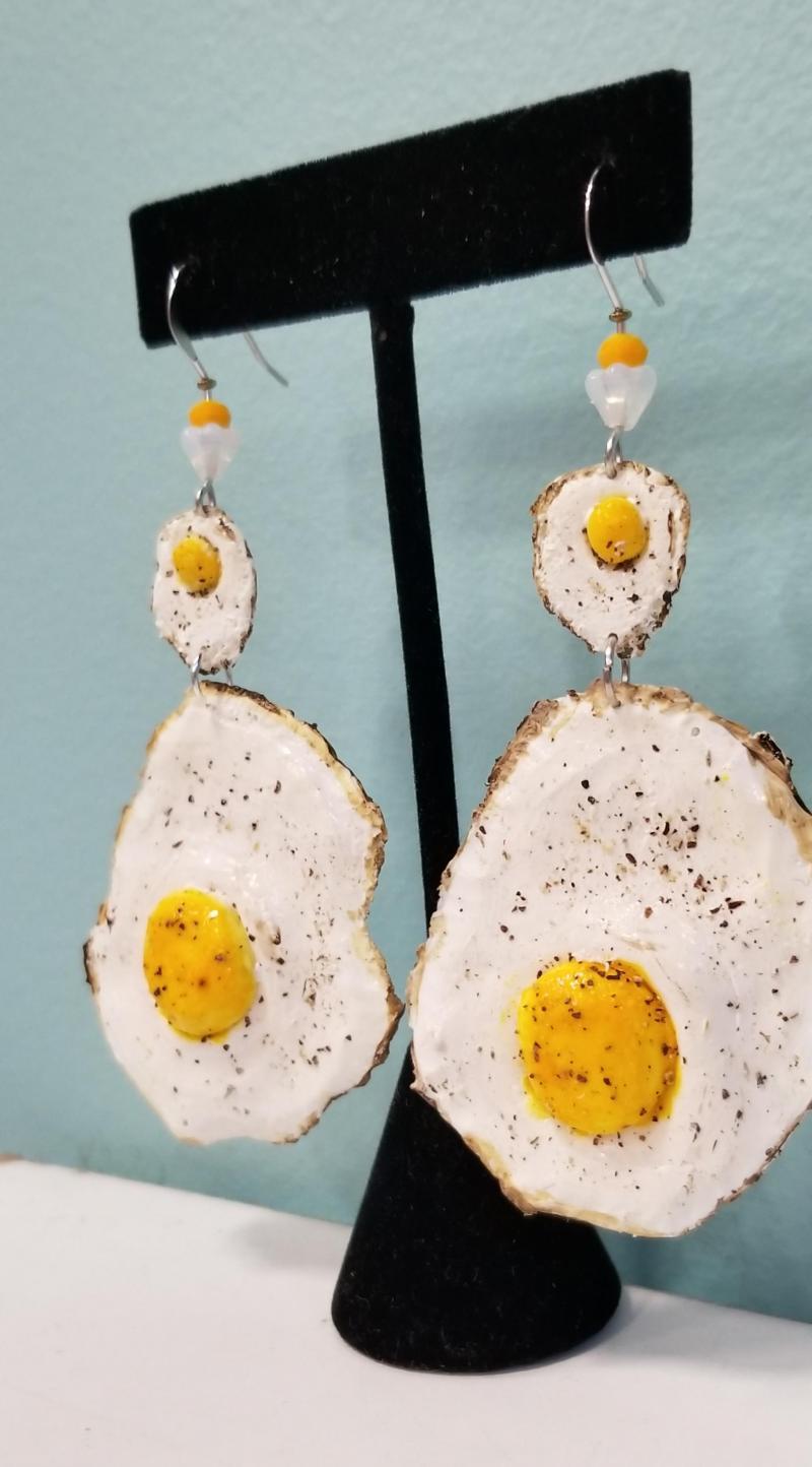 Sunny Side Up Egg Earrings