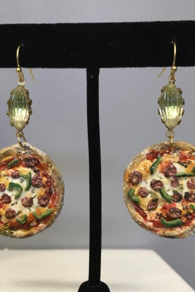 Supreme Pizza Earrings