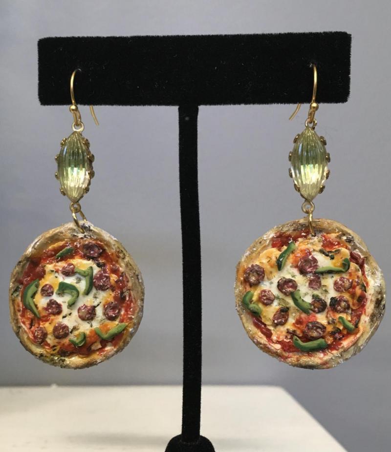 Supreme Pizza Earrings