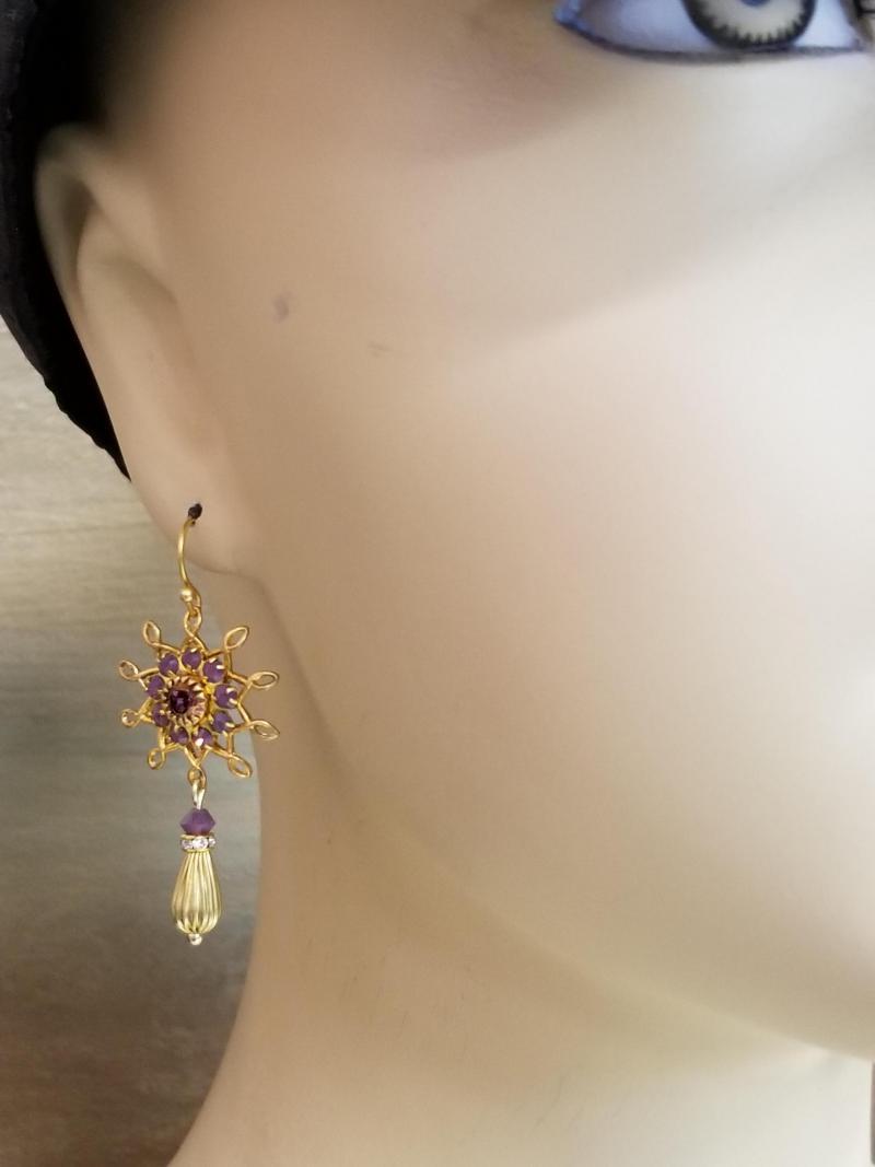 Turquoise Cat Head Earrings