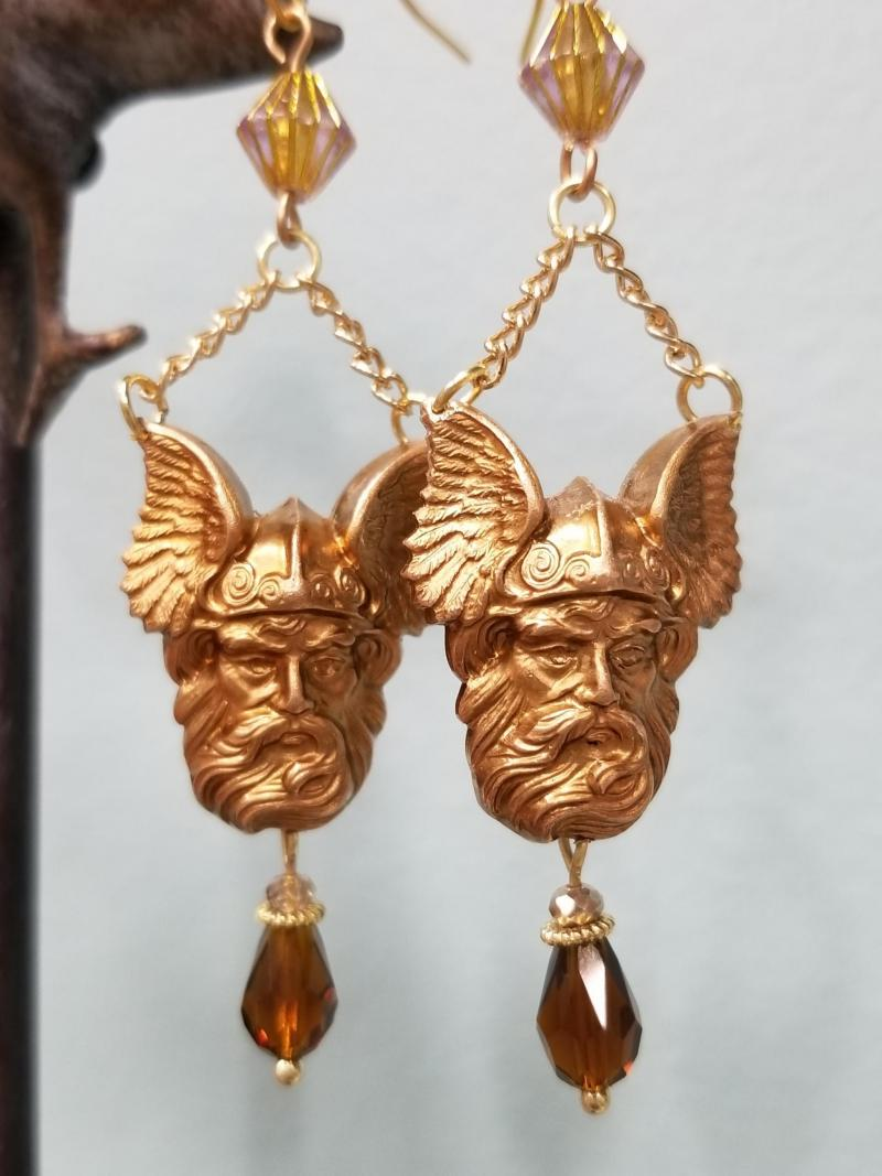 Vintage Viking Earrings