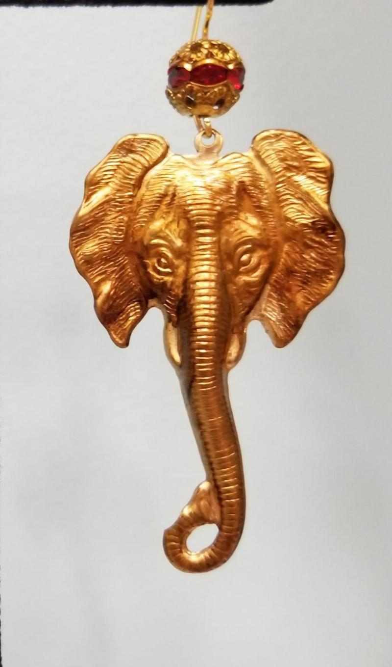 Elephant Head Earrings