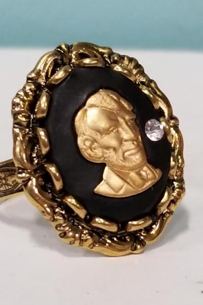 Abraham Lincoln Cameo Ring