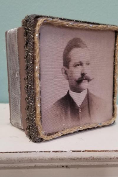 19th Century Moustache Man Decorative Box