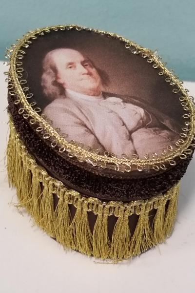 Benjamin Franklin Oval Decorative Box (Smaller Size)