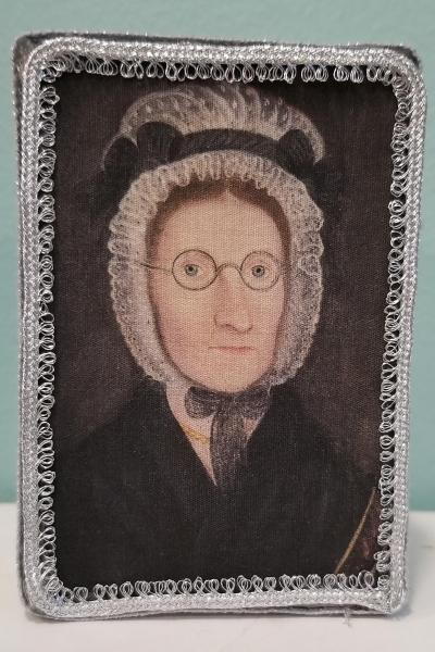 Colonial Teacher with Lace Bonnet and Glasses Portrait Decorative Box