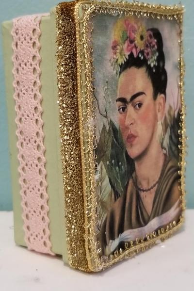 Frida Kahlo 1940 Self-Portrait for Dr. Eloesser  Decorative Box  (Larger Version)