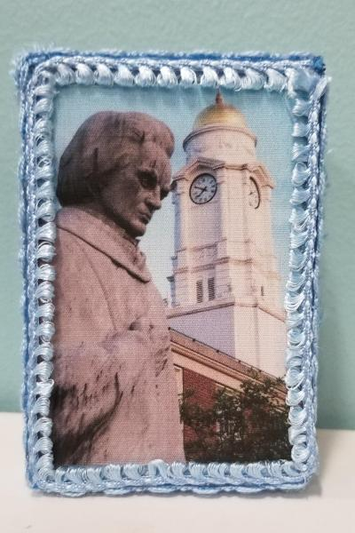 Noah Webster Statue with West Hartford Town Hall Domed Steeple Decorative Box