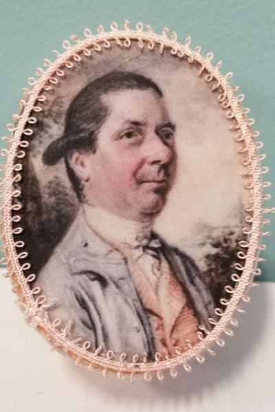 Peach and Gray Georgian Gentleman Decorative Box