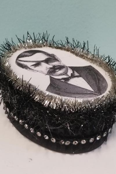 Victorian Man with Moustache and Eye Patch Decorative Box