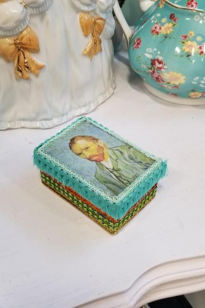 Vincent Van Gogh Last Portrait 1889 Decorative Box