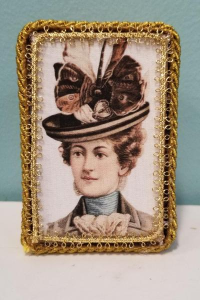 Vintage Illustration of Victorian Woman with Hat Decorative Box (Smaller Size)