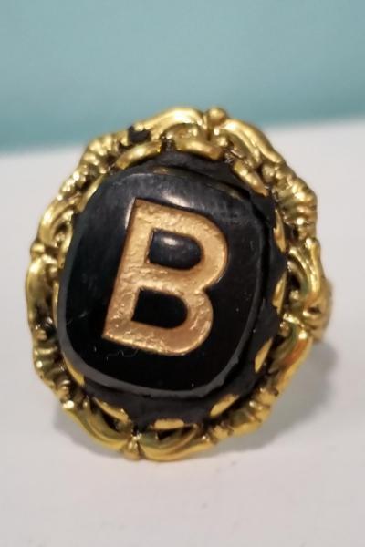 "Vintage Initial ""J"" Ring"