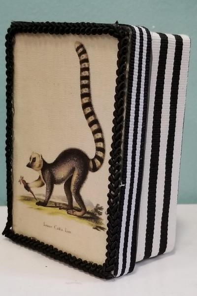 Vintage Lemur Print Decorative Box