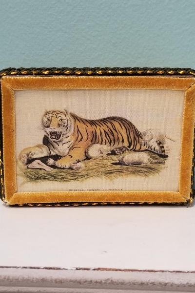 Vintage Tiger Decorative Box
